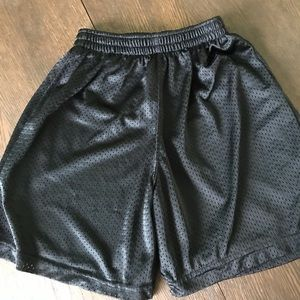 Boys Black Mesh Russell Athletic Basketball Shorts